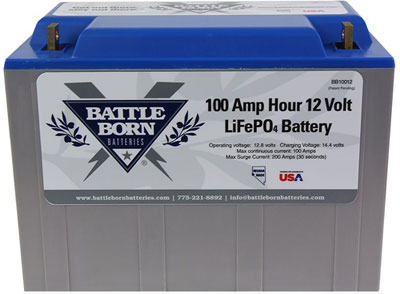 Battle Born 100 Ah Lifepo4 12 Volt Deep Cycle Battery